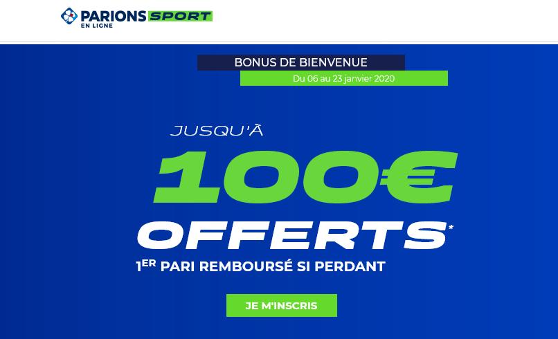 100€ de bonus Parions Sport pour vos paris sportifs