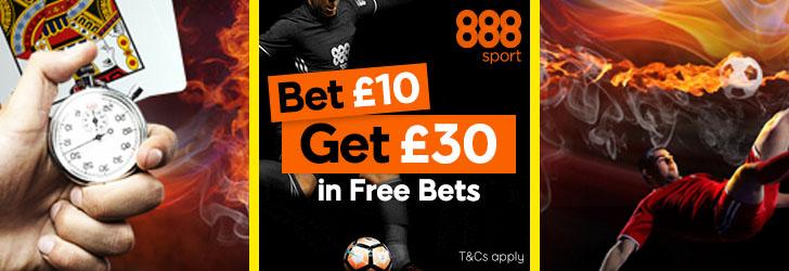 888 Sport: Bet £10 Get £30 + £10 Casino Bonus - Free Bets ...