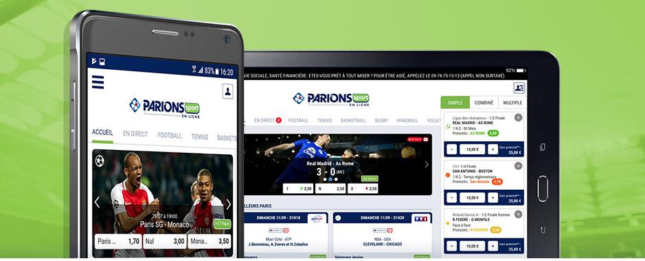 Application Parions Sport en Ligne : pariez depuis votre mobile