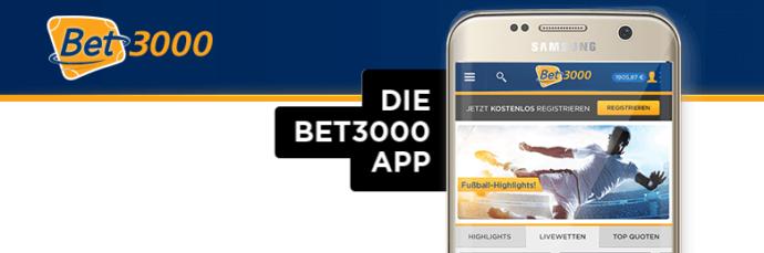 bet3000 Sportwetten App - zwei Apps für das mobile Wettvergnügen