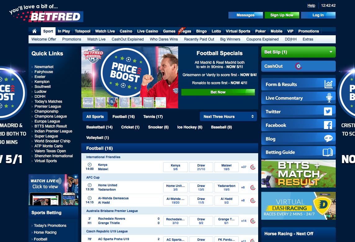 Betfred Website