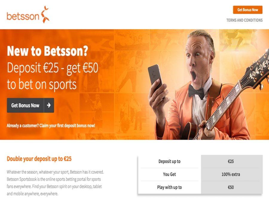 Betting Bonus Betsson - Claim a good Bonus with Betsson here