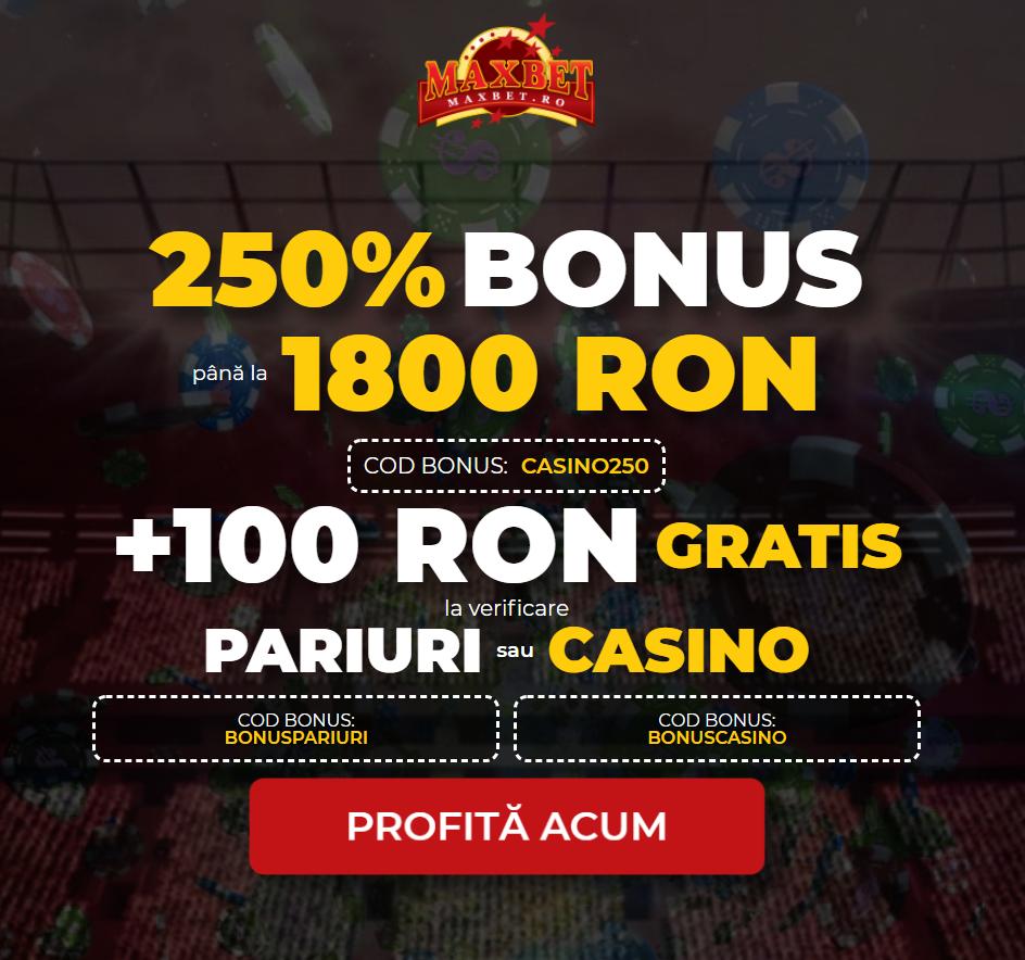 ✅ Bonus Exclusiv Maxbet: 100 RON gratis fără depunere!