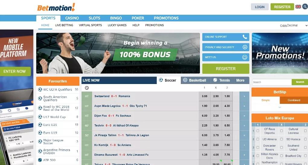 Букмекерская контора BetMotion: отзывы, зеркала сайта, бонусы ...