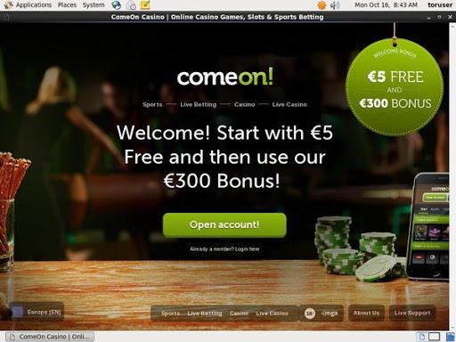 Come On Mobil Casino Bonus