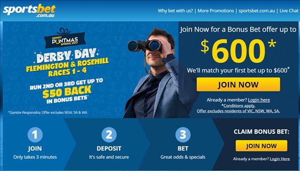 How to get Free Bonus Bet on Horse racing at Sportsbet Australia ...