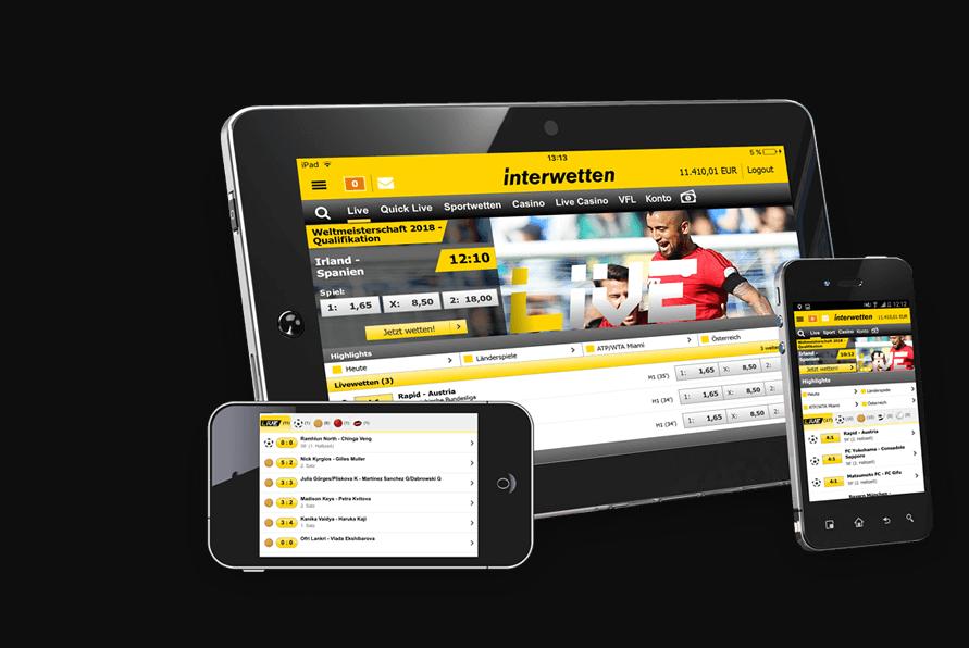 Interwetten Mobile App - Apuestas Deportivas 24h