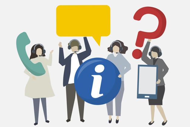 Обслуживание клиентов с иконами иллюстрации | Бесплатно векторы