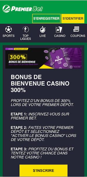 Premier Bet bonus de bienvenue - Les codes de Premier Bet