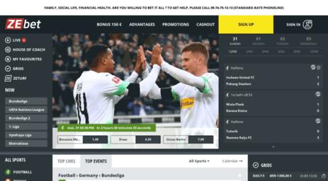 Visit Zebet.fr - Online Sportsbetting - Football, Rugby, Tennis ...