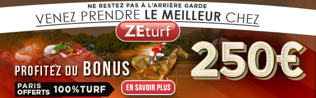 ZEturf - Bonus de 250 euros